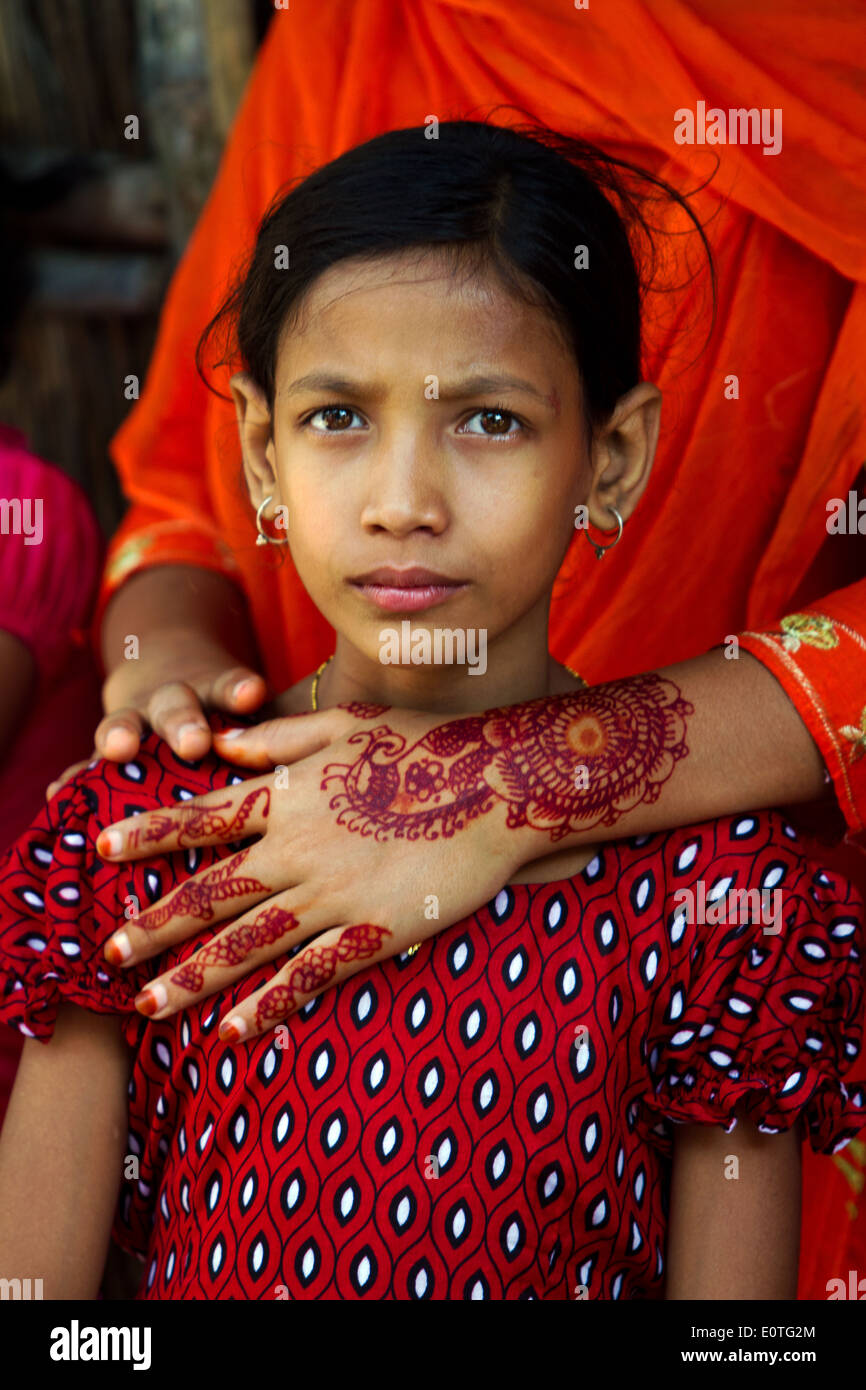 Portrait of a young girl in Dhaka Bangladesh - Stock Image