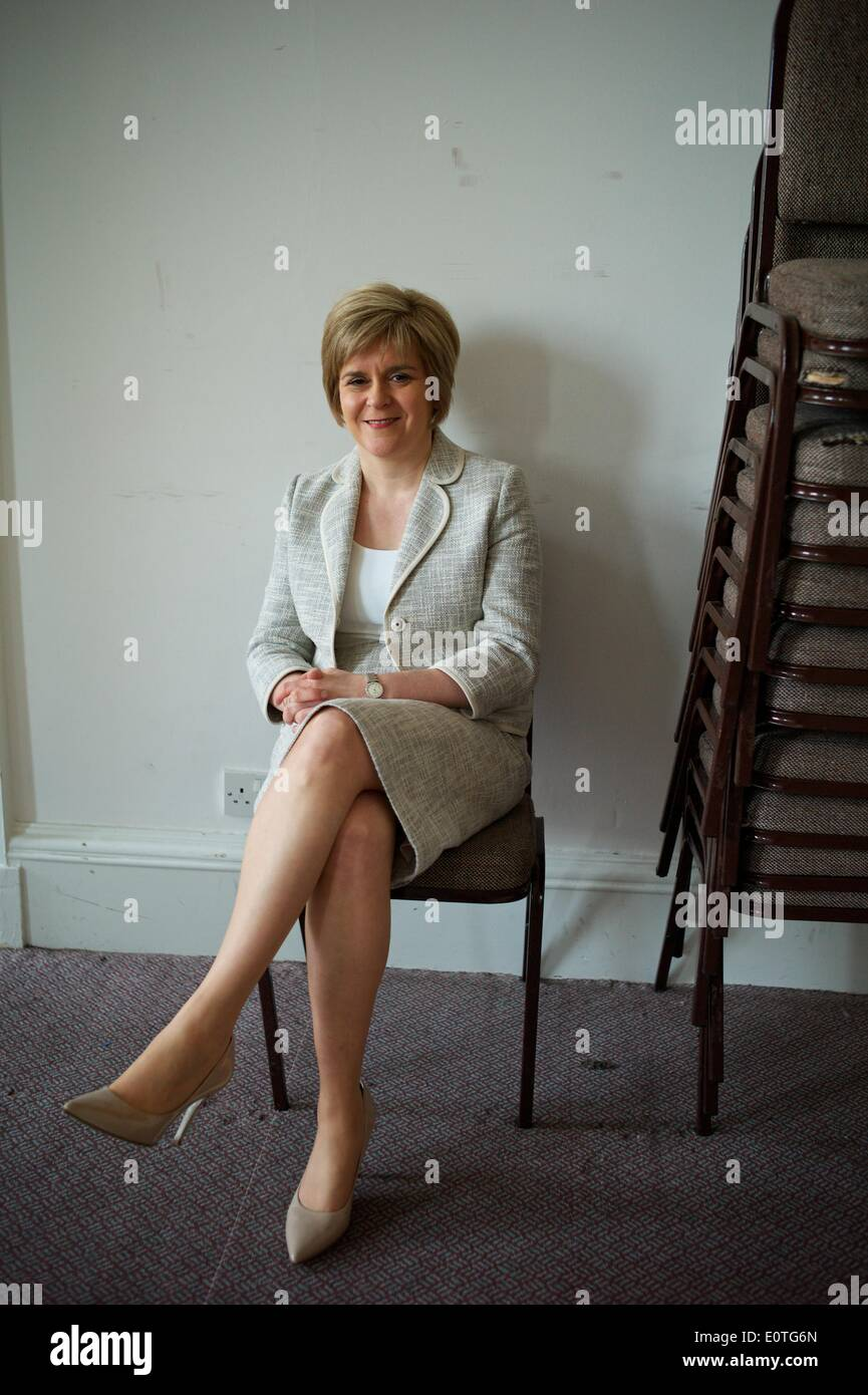 The Deputy First Minister of Scotland, and Depute Leader of the SNP; Nicola Sturgeon MSP. Nicola Sturgeon was voted the 20th most powerful woman in Britain by BBC Radio 4 listeners in 2013. The referendum for Scottish Independence takes place on the 18th September 2014. Credit:  Chris Strickland/Alamy Live News - Stock Image