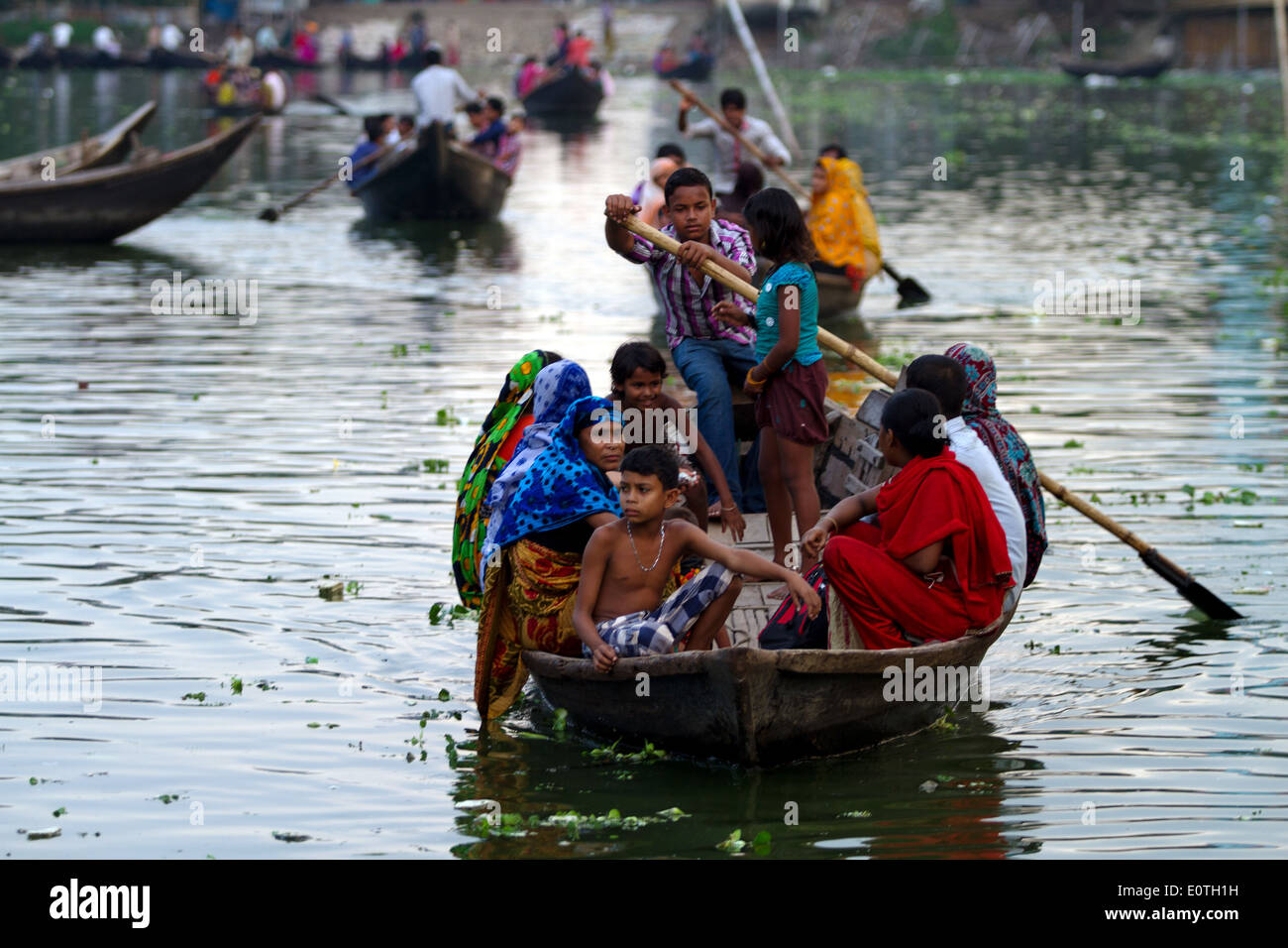 Transportation in a river Dhaka Bangladesh - Stock Image