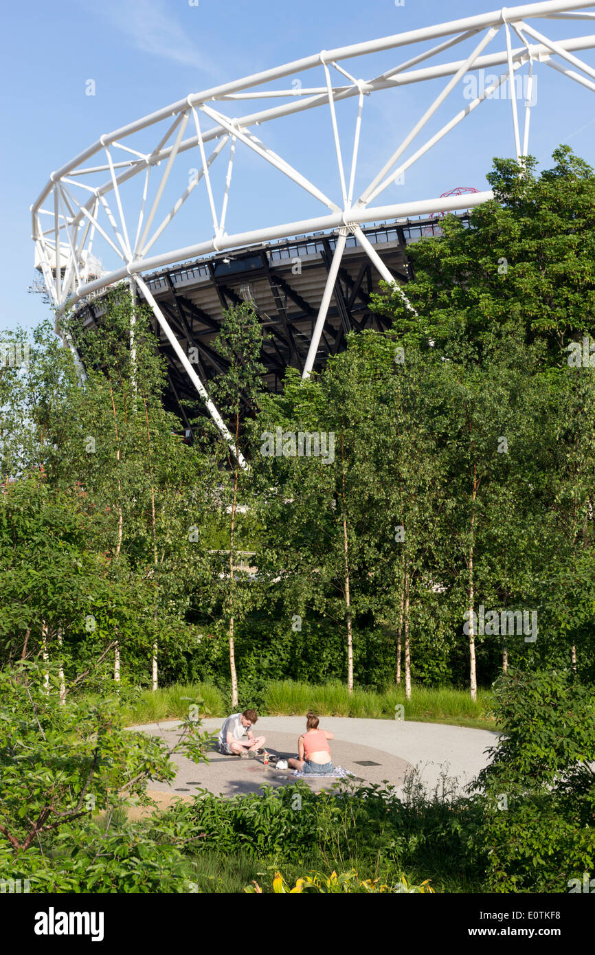 The Queen Elizabeth Olympic Park - Stratford - London - Stock Image