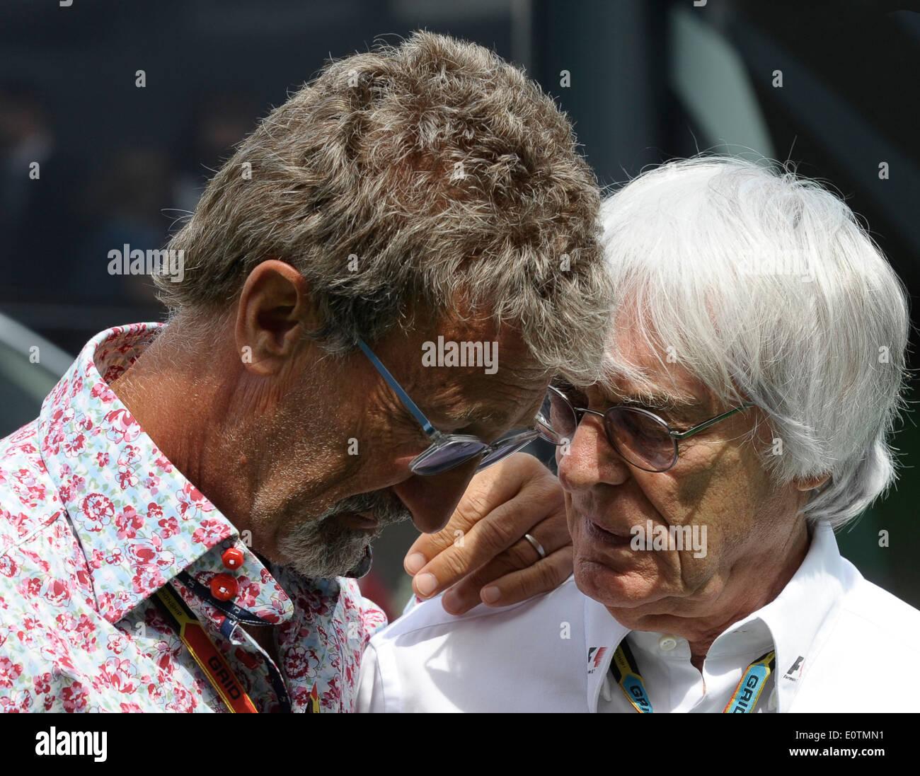 Formula One Grand Prix of Spain 2014 ---- Formula 1 Boss Bernie Ecclestone (GBR) and Eddie Jordan - Stock Image