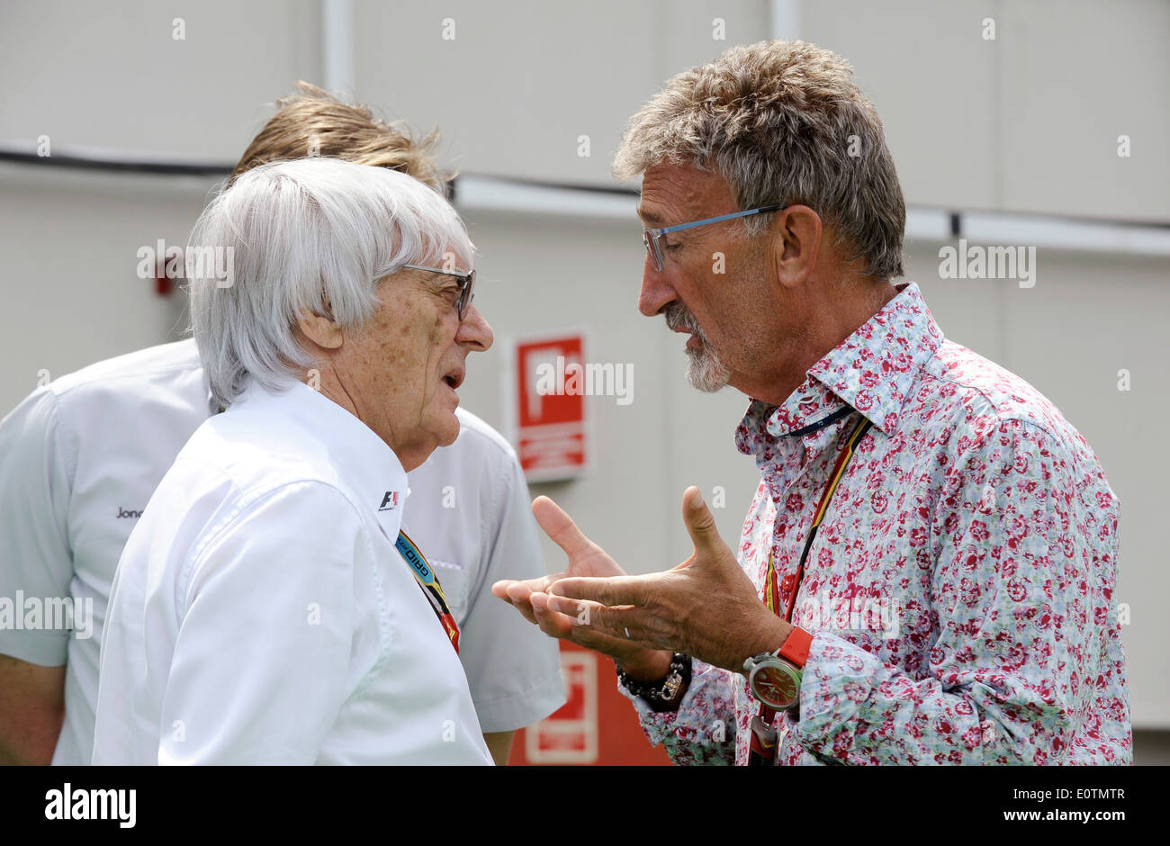 Formula One Grand Prix of Spain 2014 ---- Formula 1 Boss Bernie Ecclestone (GBR) and Eddie Jordan - Stock Image