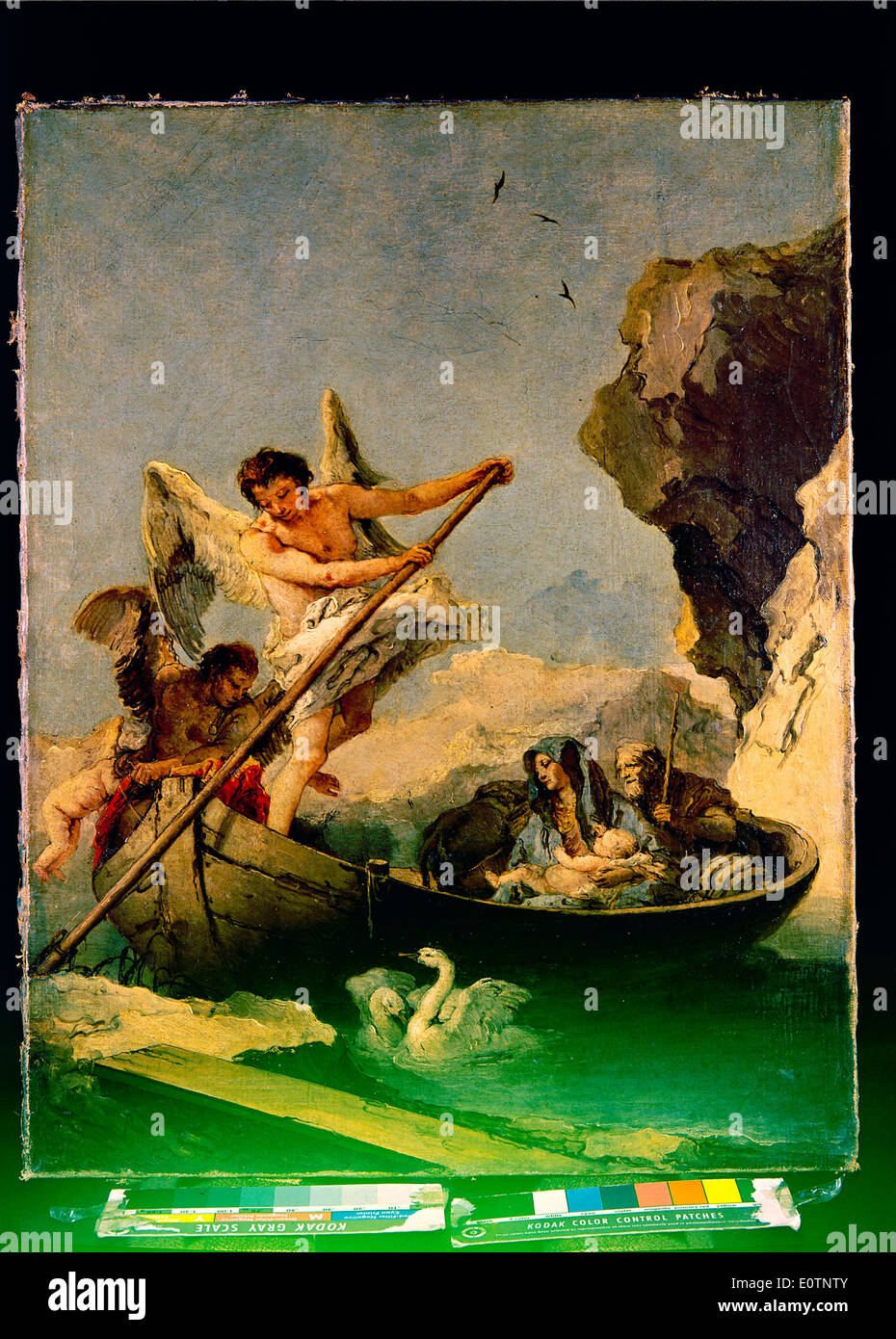 Fuga para o Egipto, Museu Nacional de Arte Antiga, Lisboa - Stock Image