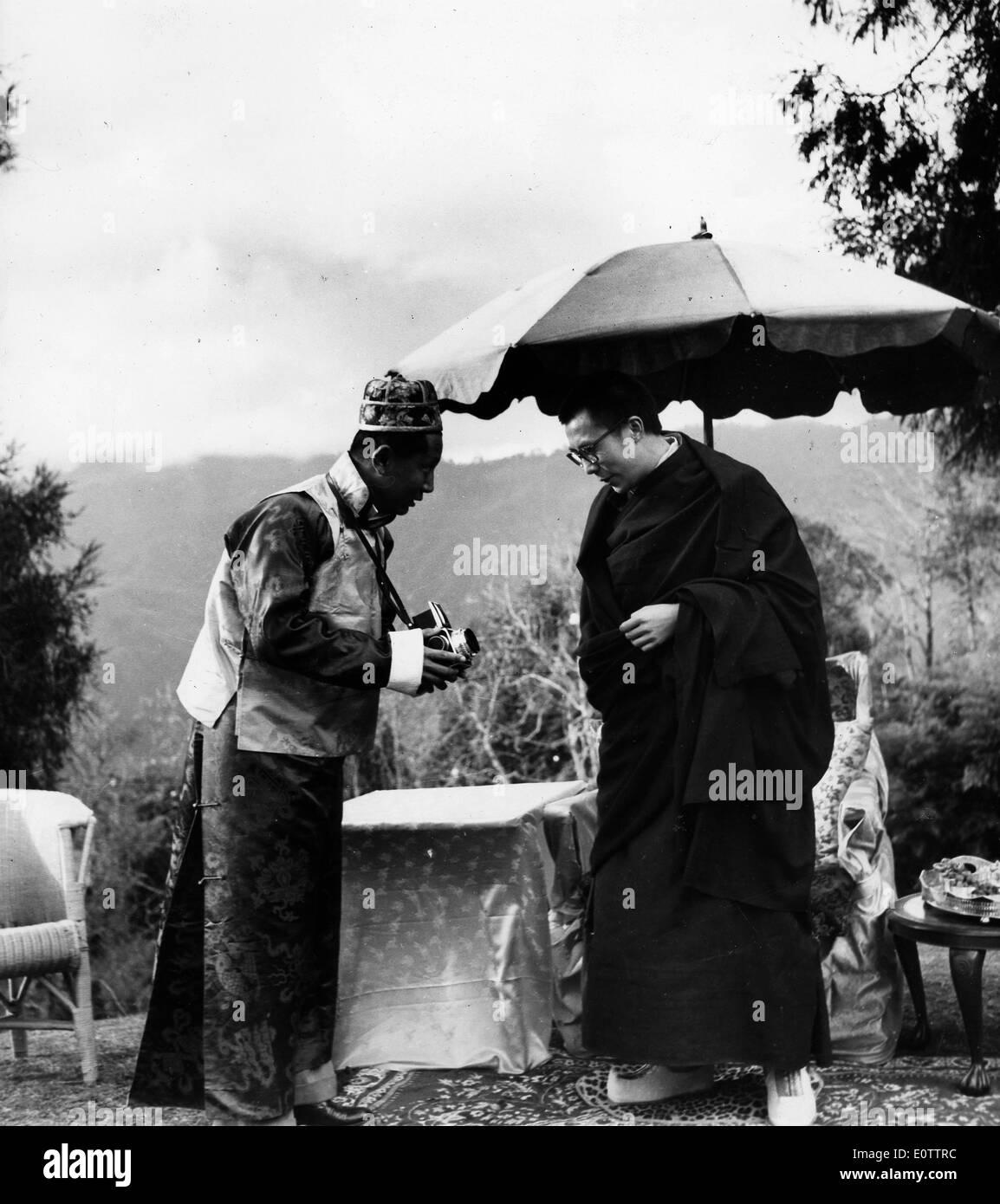 The 14th Dalai Lama visits Barcelona - Stock Image