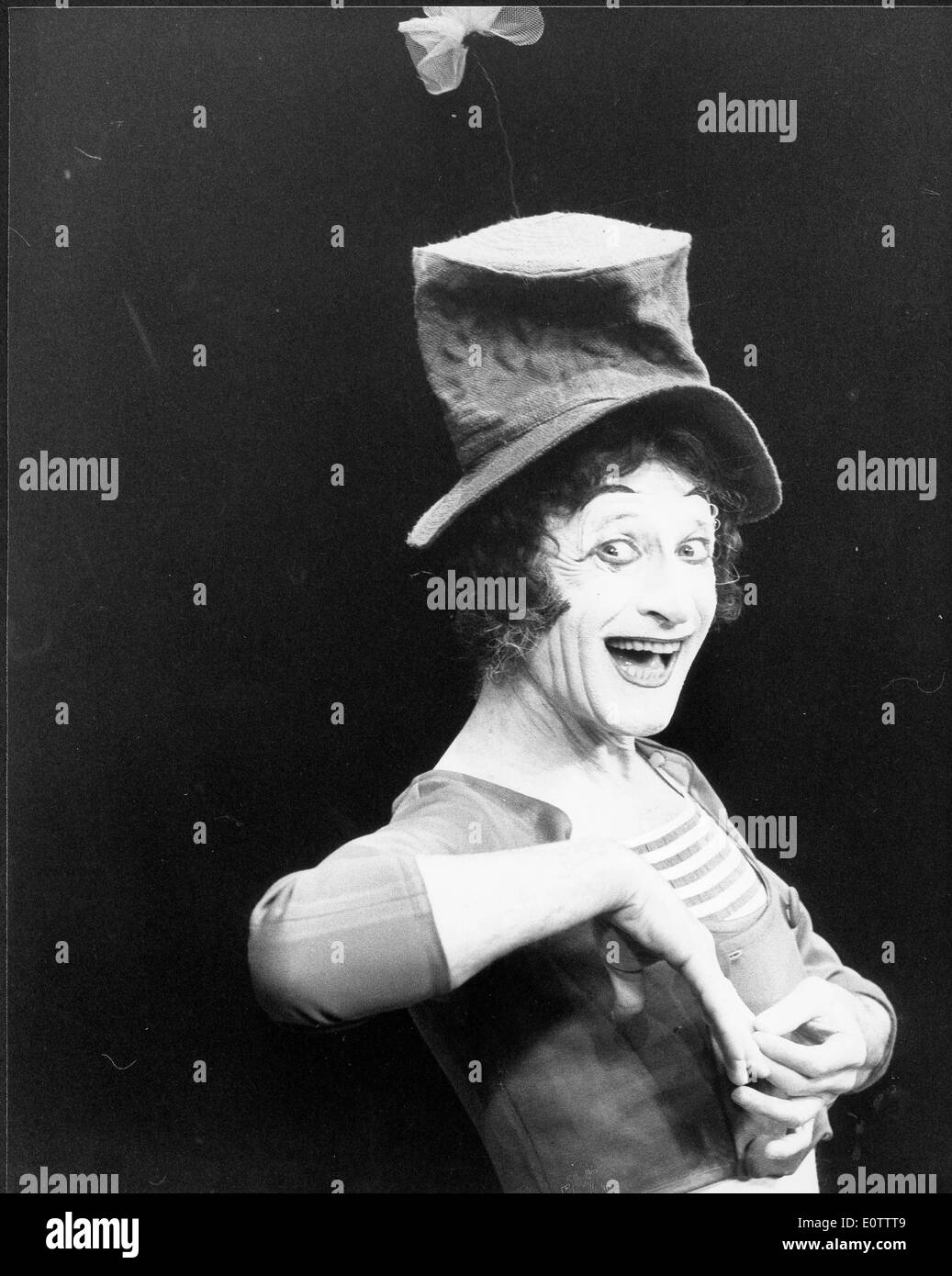 French mime artist and actor Marcel Marceau - Stock Image