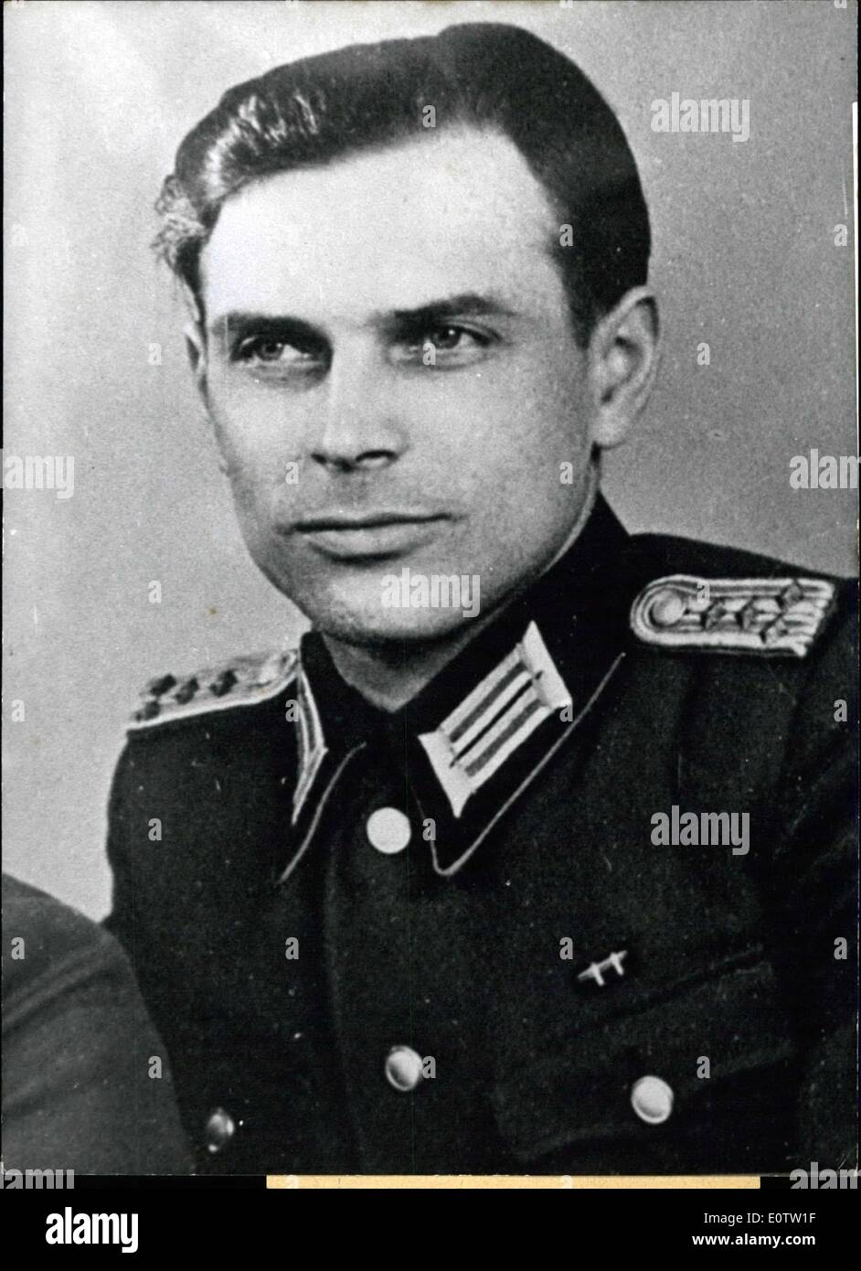 Sep. 16, 1960 - Captain of ''People's Army'' Unveils Plans of Aggression. The Captain Gunther Alfons Malikowski who belonged to - Stock Image