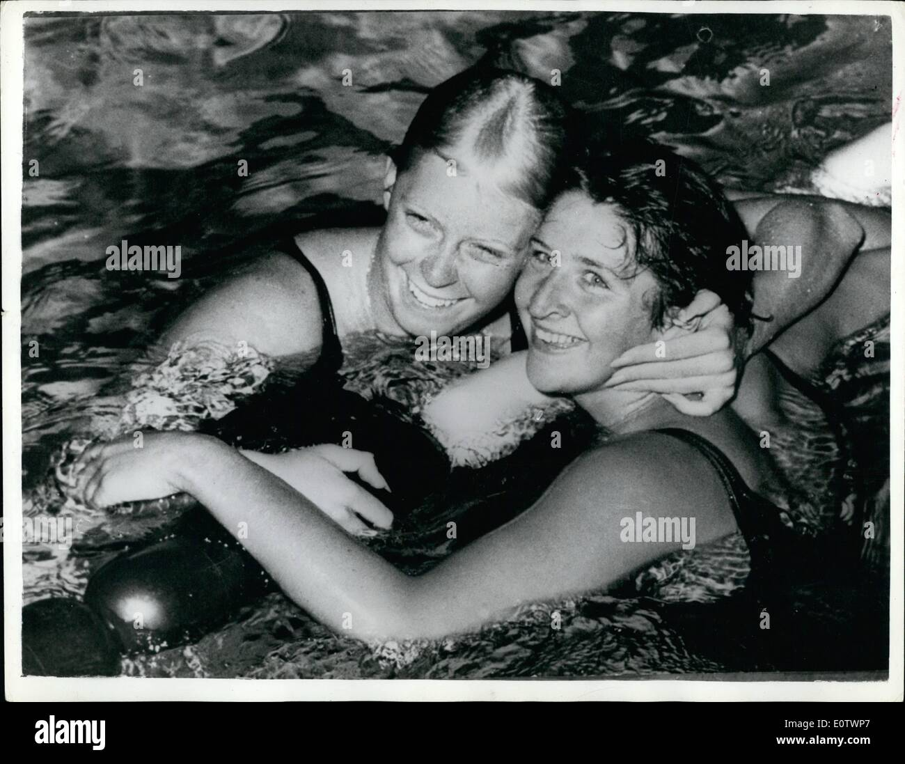 Aug. 08, 1960 - Olympic Games In Rome. Dawn Fraser Equals World Record. Photo shows Australian swimmer Dawn Fraser Stock Photo