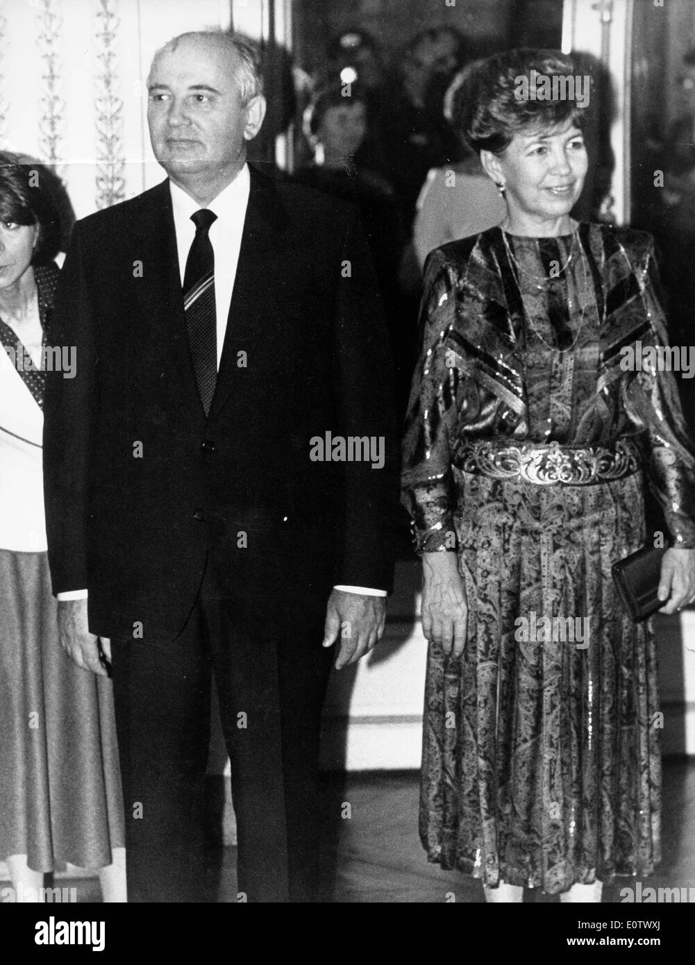 Mikhail Gorbachev with wife Raisa Gorbachova - Stock Image