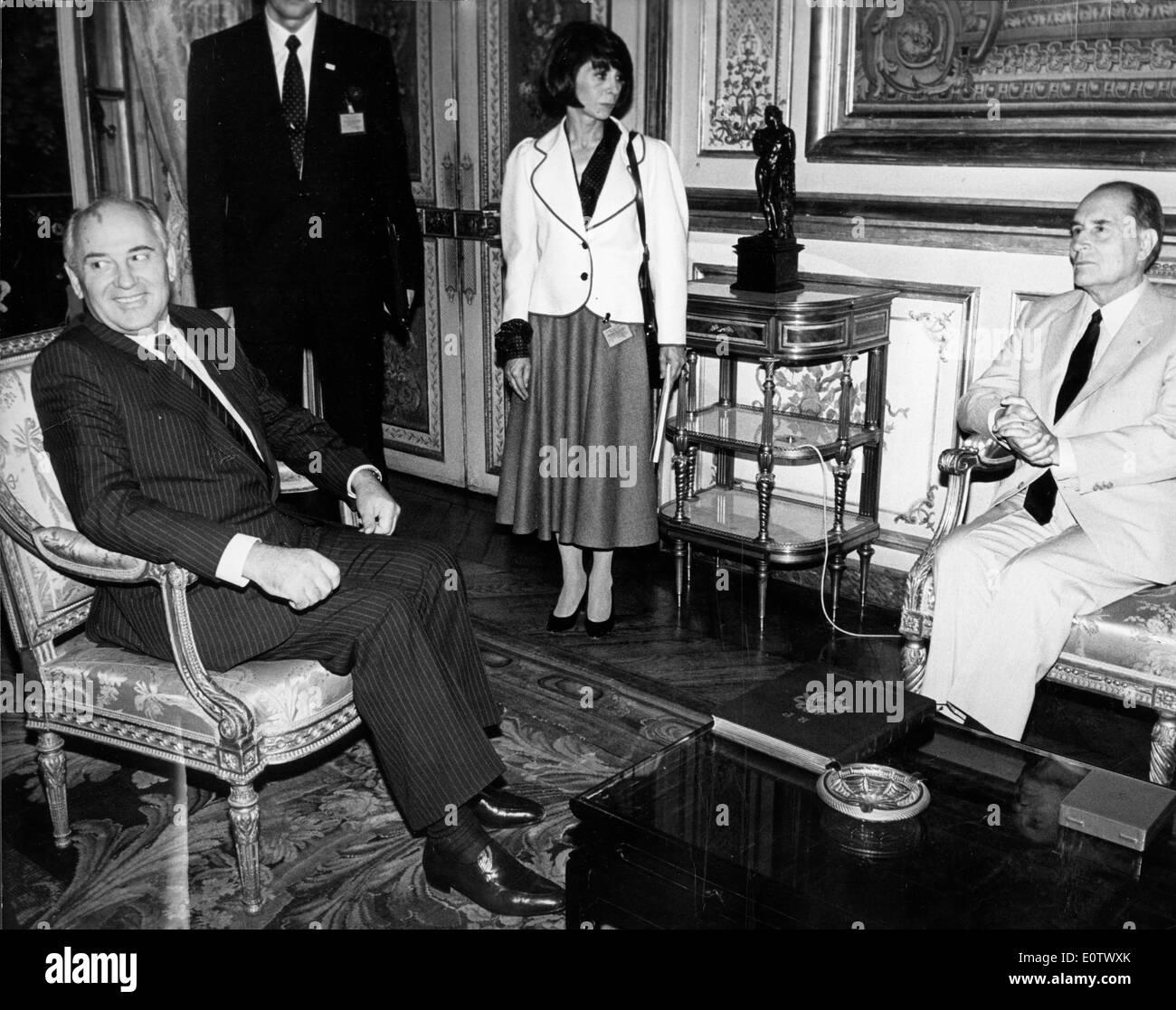 General Secretary Mikhail Gorbachev in a meeting - Stock Image