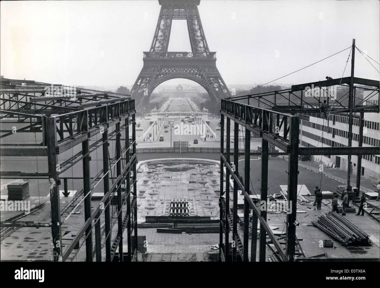 Aug. 26, 1960 - NATO Building Demolished - Stock Image