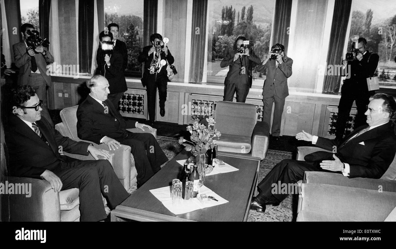 Paparazzi take photos during Manea Manescu's meeting - Stock Image