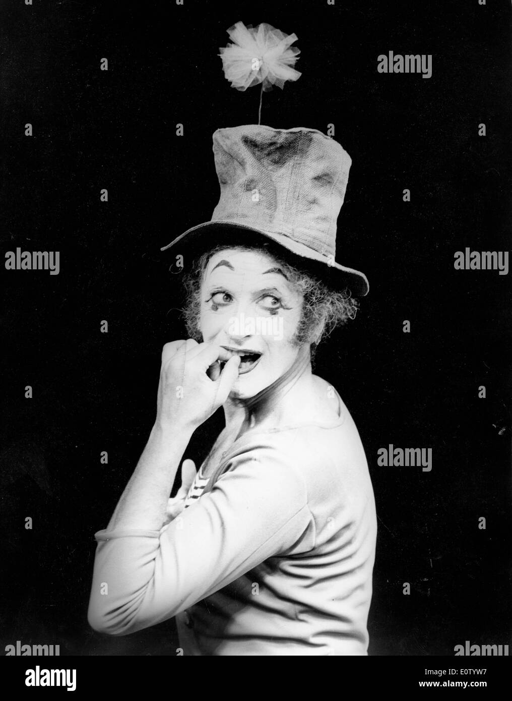 Marcel Marceau during a performance - Stock Image