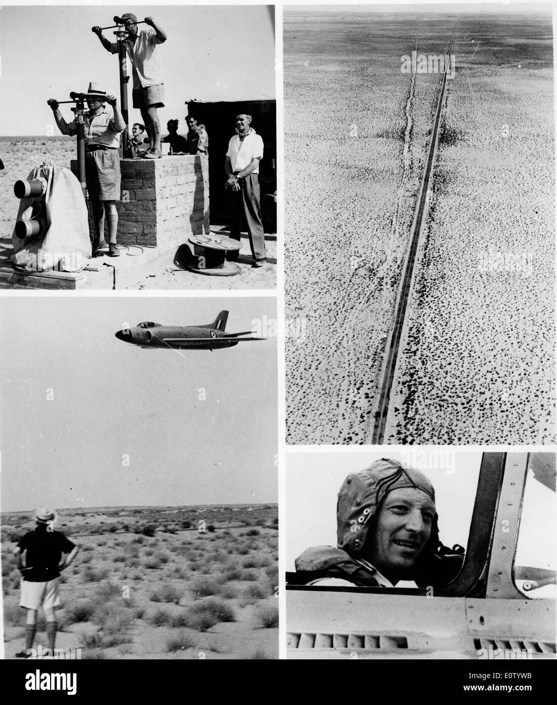 Series of photos of Michael Lithgow during flight - Stock Image