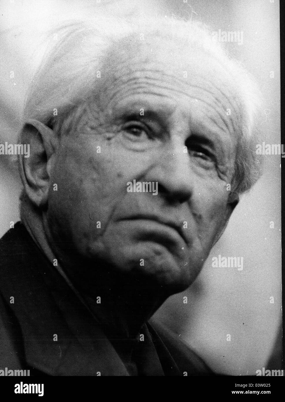 Close-up of Raymond Marcellin at an old age - Stock Image