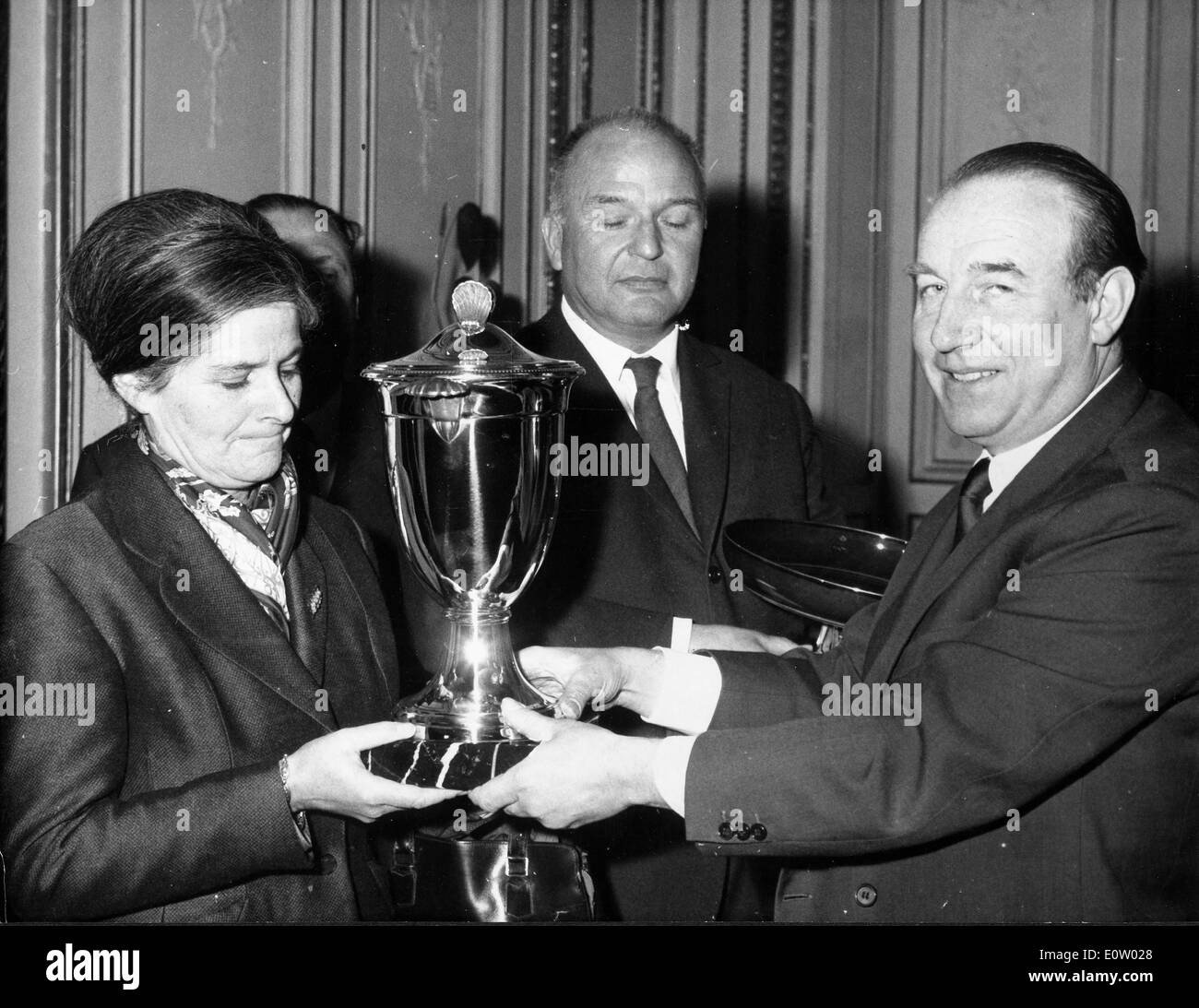 Raymond Marcellin receiving and award - Stock Image