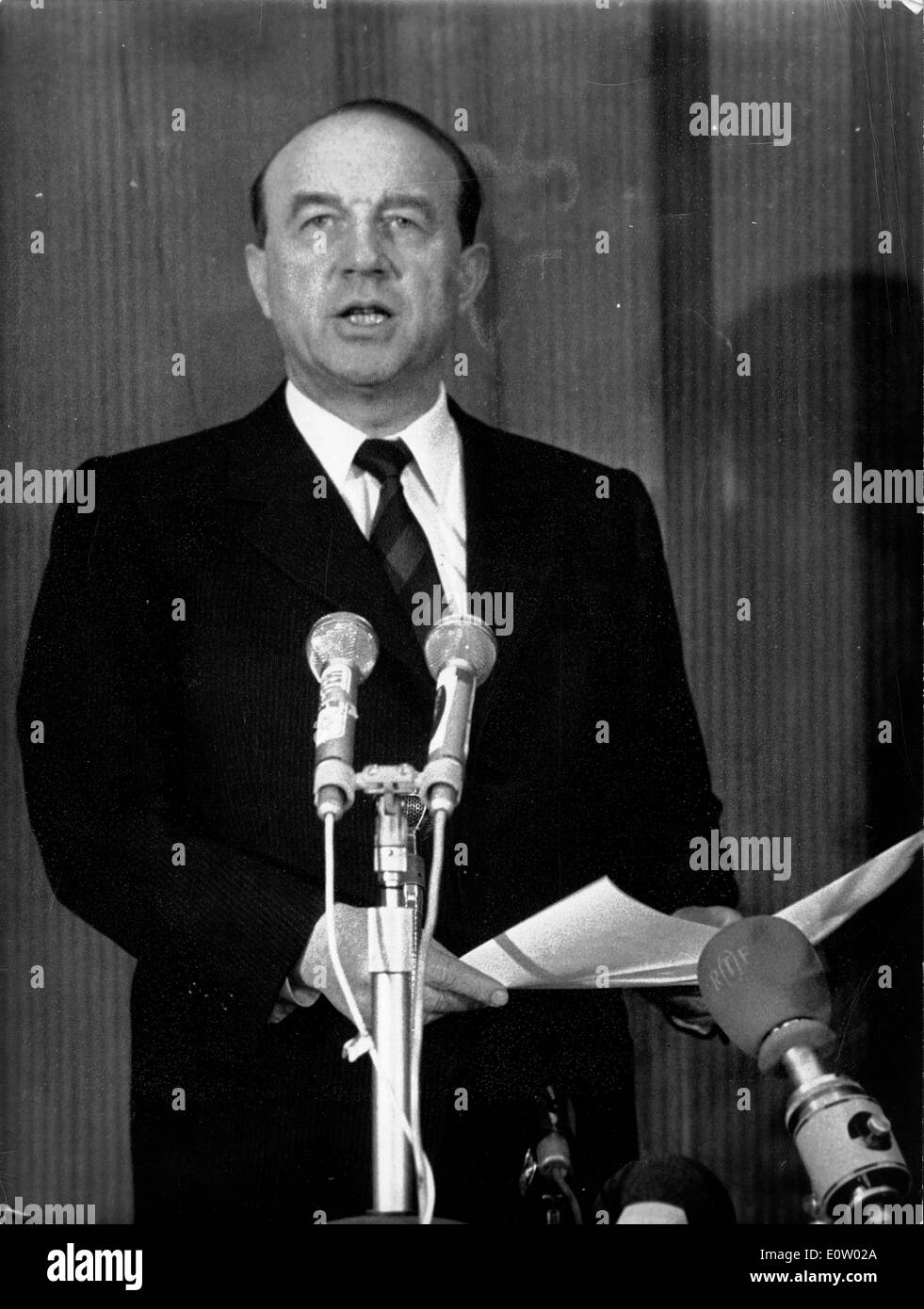 Raymond Marcellin during a press conference - Stock Image