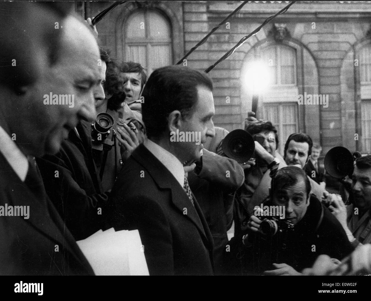 Raymond Marcellin being photographed by paparazzi - Stock Image