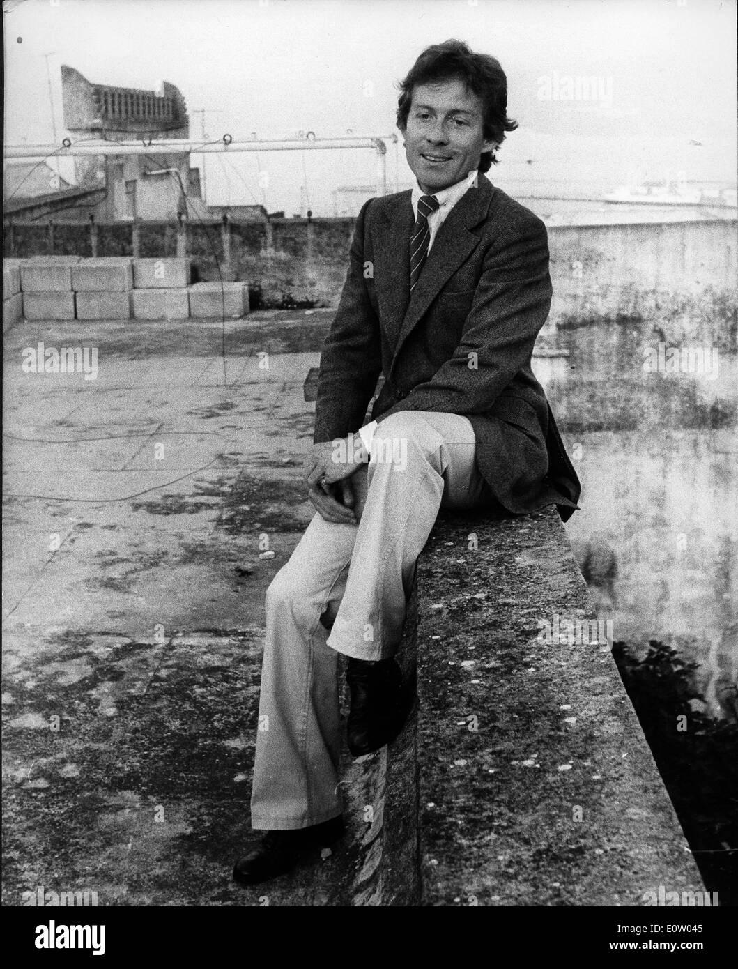 Roddy Llewellyn on a bridge in London Stock Photo