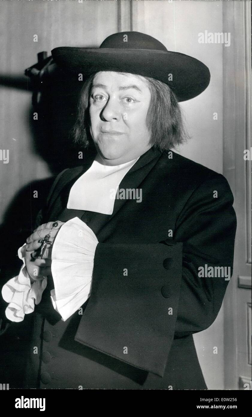 Feb. 02, 1961 - Francis Blanche in new impersonation: Francis Blanche, the famous French sen and stage actor who Stock Photo