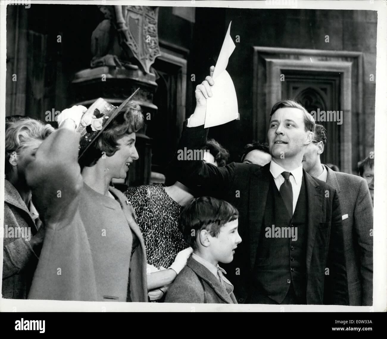 May 05, 1961 - The Reluctant Peer Goes To The House Of Commons: Mr. Anthony Wedgwood Benn - ''The Reluctant - Stock Image