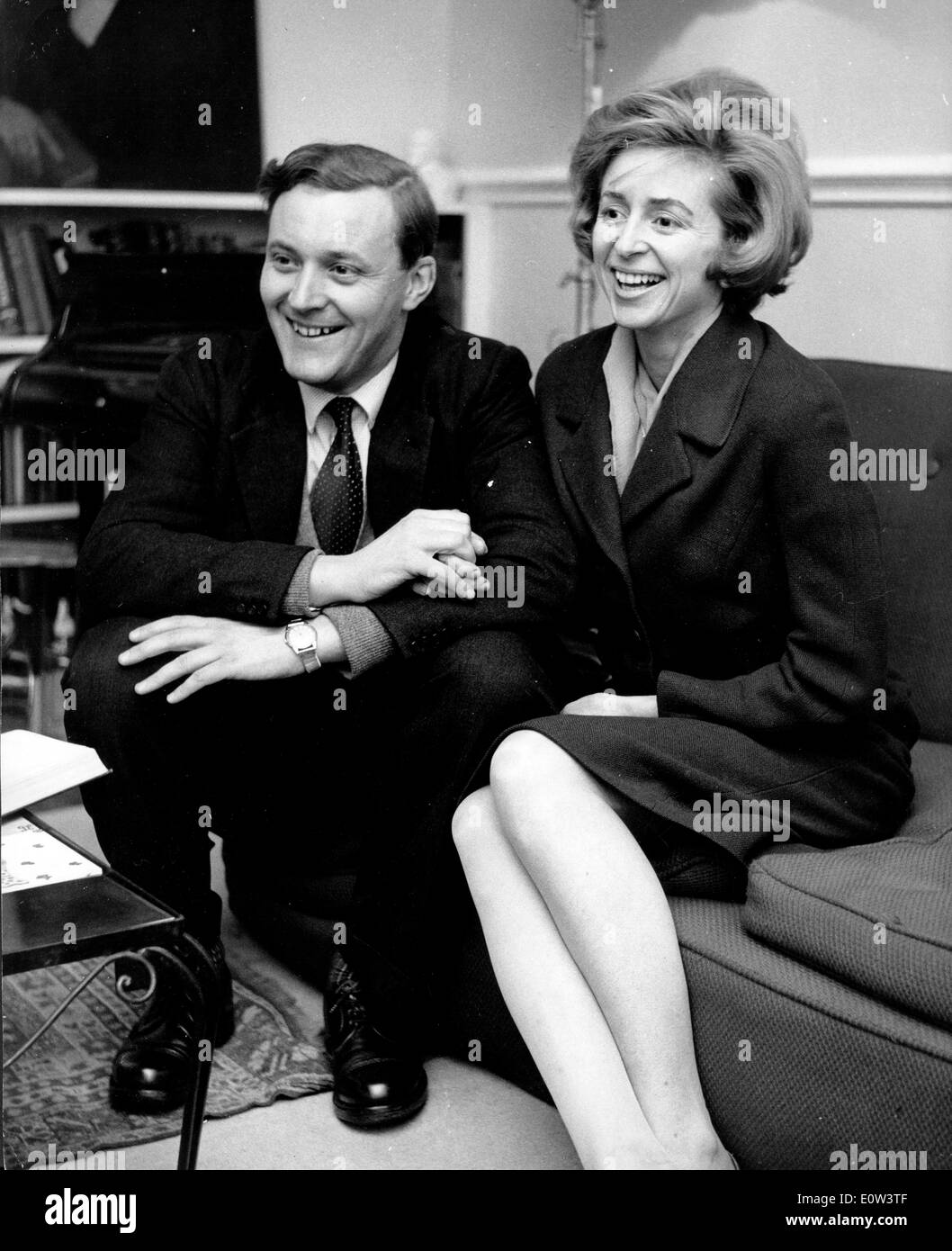 Mar 22, 1961; London, UK; The Postmaster General ANTHONY BENN and his wife CAROLINE. - Stock Image