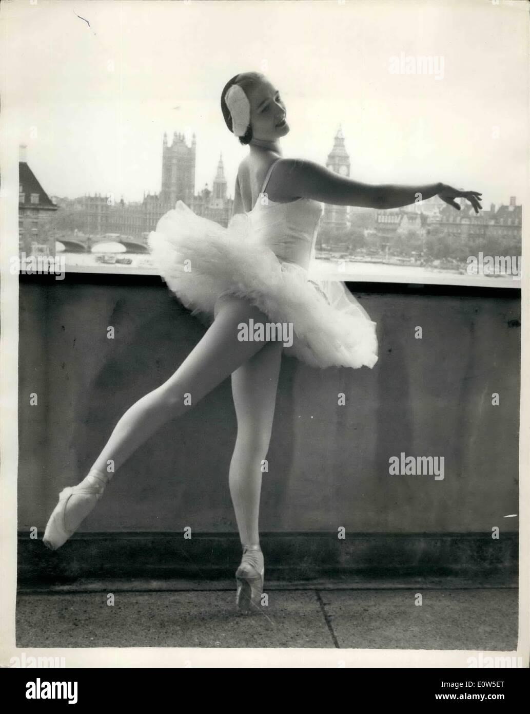 Jul. 07, 1961 - English Ballerina Returns From Russia Anna Rehearses for ''Swan Lake'': Ballerina- nineteen year Stock Photo