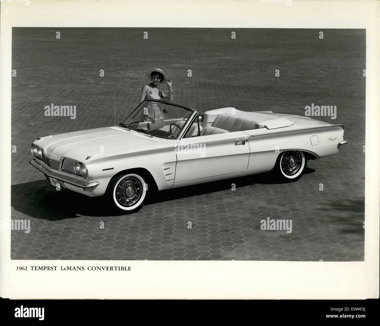 Sep. 09, 1961 - Attractive addition to Pontiac's new Tempest series for 1962 is the superbly styled convertible pictured - Stock Image