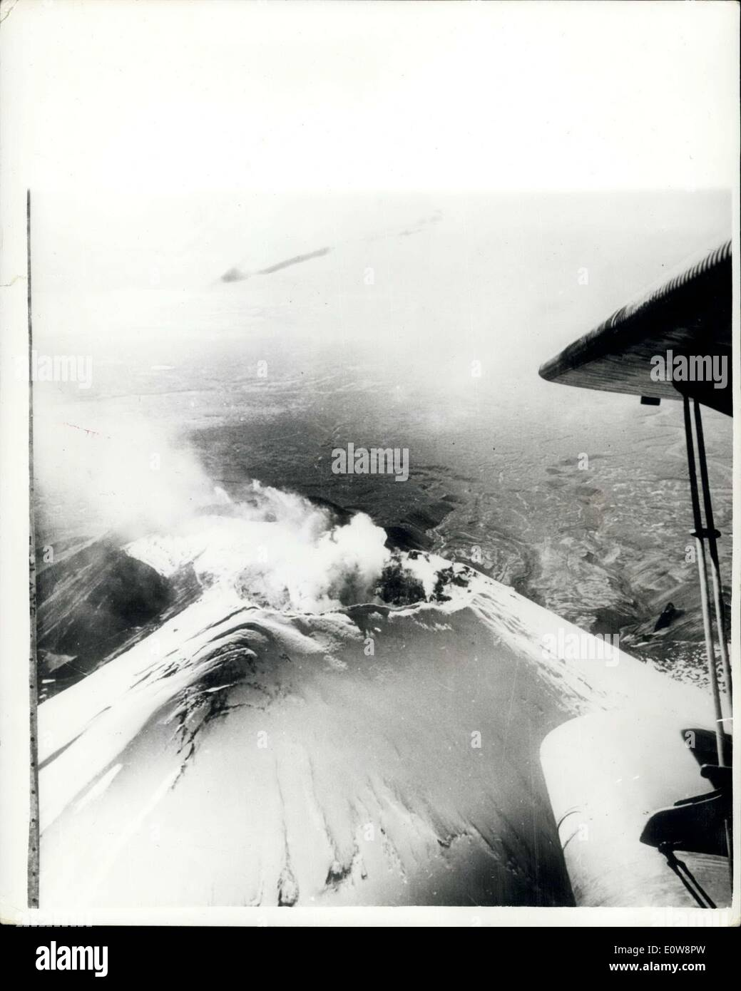 Nov. 21, 1961 - A Siberian Volcano Awakens: The Avachinsk, a Siberian volcano which had been extinct for centuries, began crupting recently. Photo shows The volcano's center photographed plane after it started erupting recently. - Stock Image