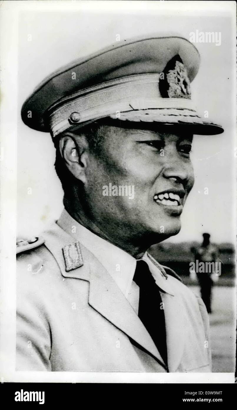 Mar. 02, 1962 - 2-3-62 Army Coup in Burma overthrows government. Led by General Newin, the Burmese Army staged a bloodless coup during the night and overthrew the government of the Premier U Nu. It has been reported that the Premier was arrested, along with other Ministers, when Intelligence officers surrounded his home early in the morning. Photo Shows: General Ne Win. - Stock Image