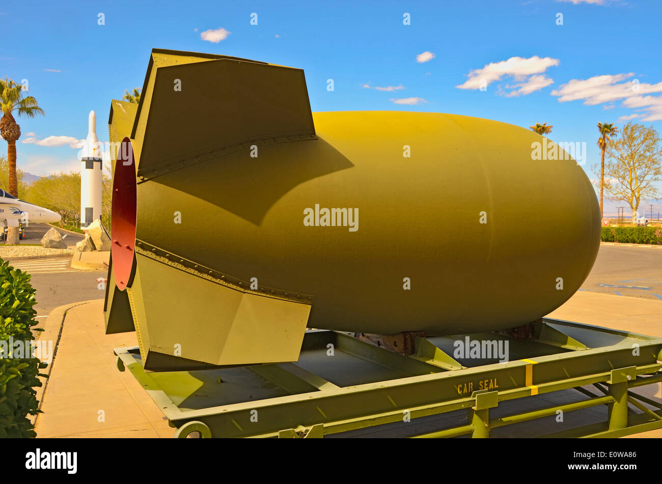 """Mark IV Special Weapon, an Atomic Bomb. This was the first standard """"production model"""" of the weapon. Stock Photo"""