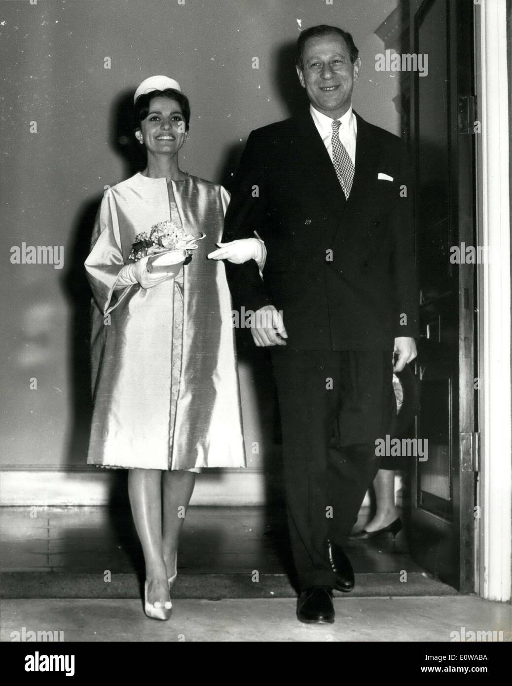 Mar. 15, 1962 - LABOUR MP MARRIES IRAQI HEIRESS: Harold Lever, 48, Labour MP for Manchester's Cheatham, Division, Stock Photo