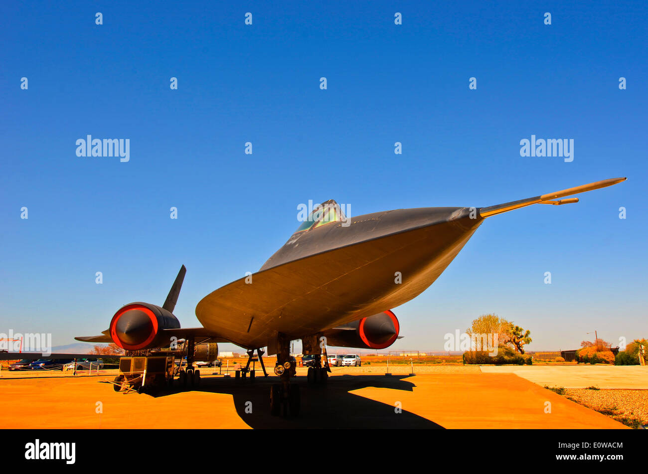 Lockheed A-12 'Blackbird aircraft. It was used in covert operations by the CIA in the 1960's. Stock Photo