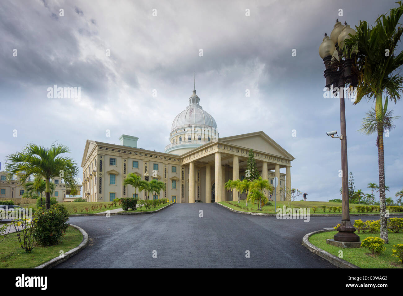 Capitol complex, government buildings, Melekeok, Palau Stock Photo