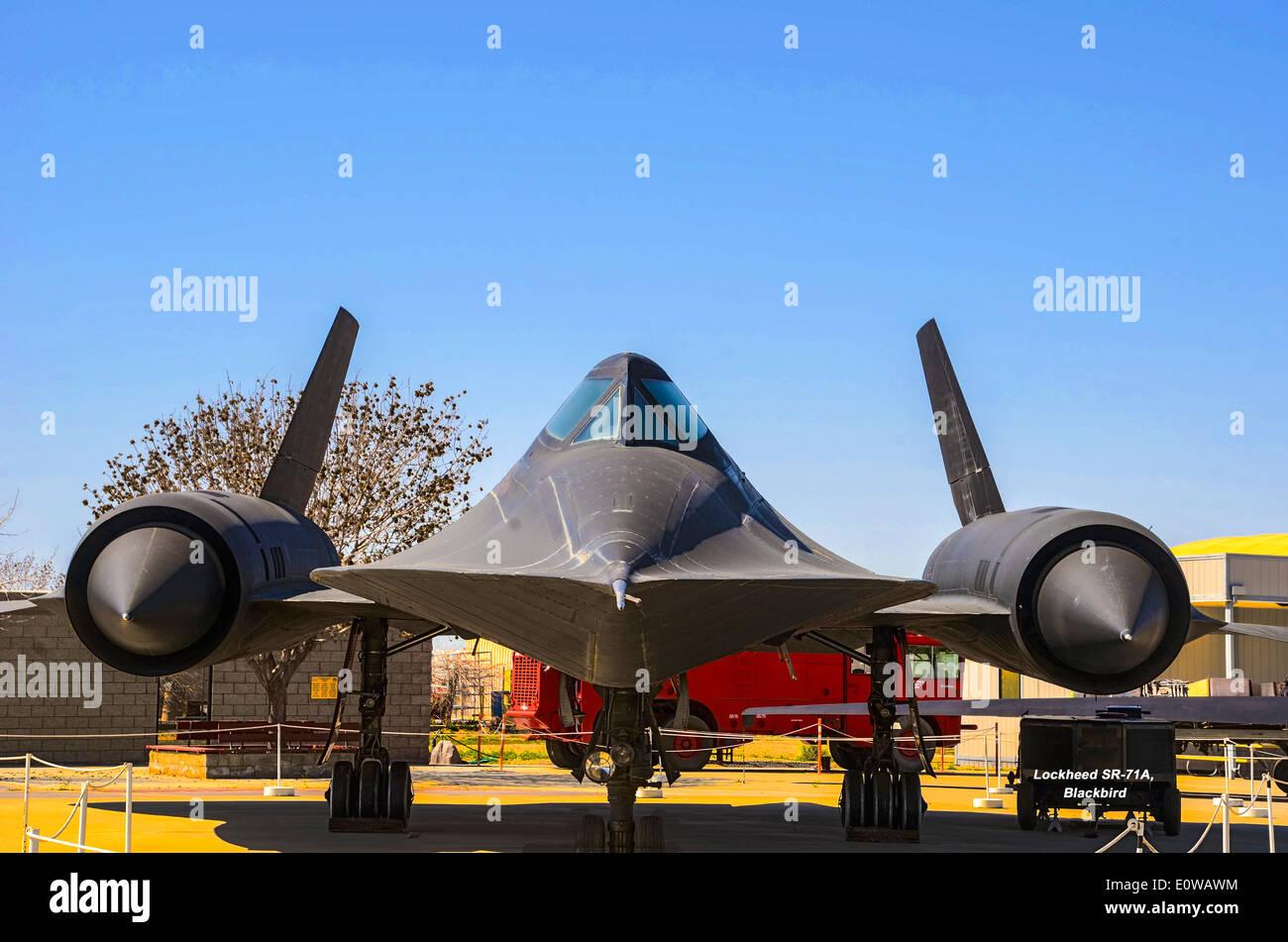 Lockheed SR-71A 'Blackbird' aircraft at The Blackbird Airpark near Palmdale,  California, USA. - Stock Image