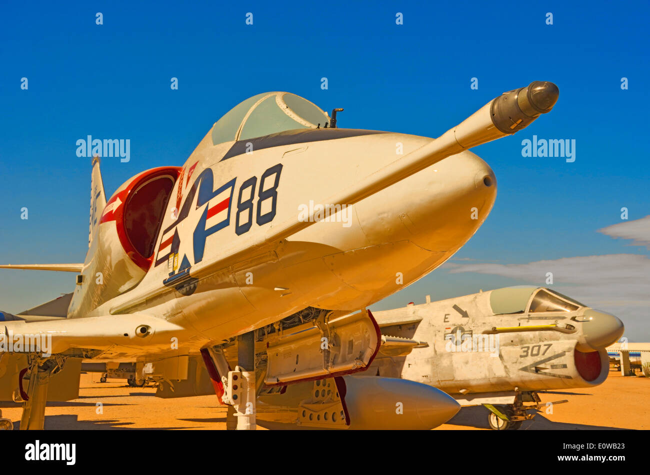 Douglas A-4D Skyhawk attack bomber at Pima Air and Space Museum in Tucson, Arizona, USA Stock Photo