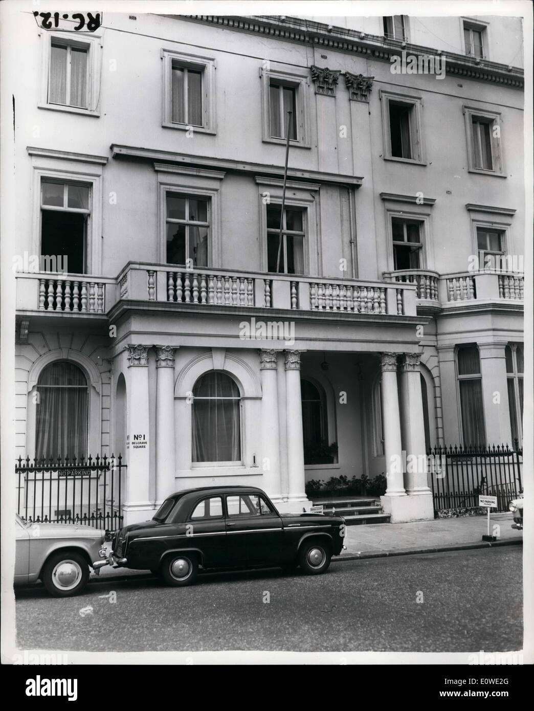 Jul. 07, 1962 - Mystery Blast Kills Rumanian Legation Woman In London: Rumanian diplomats last night demanded the Stock Photo