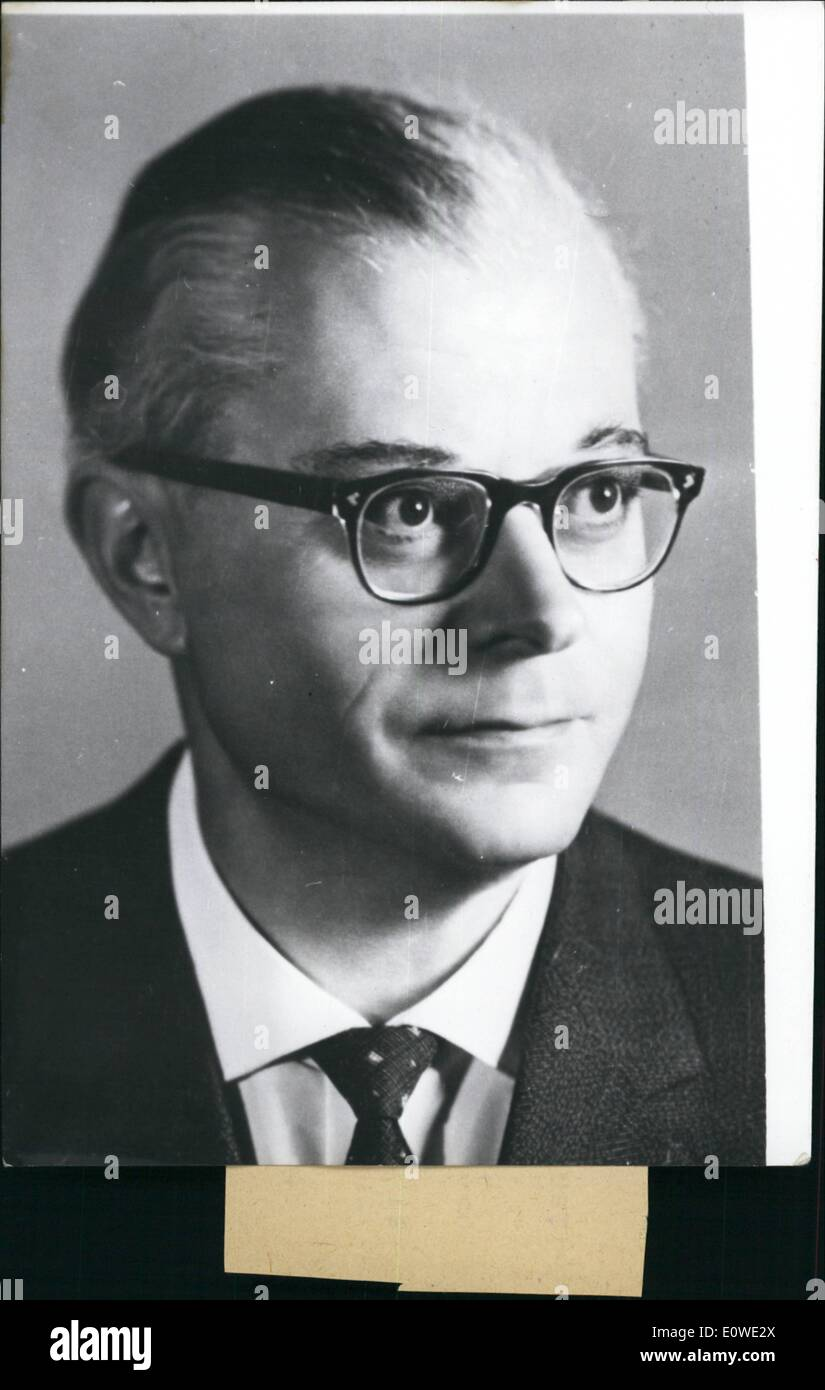 Jul. 07, 1962 - Federal attorney-general provisionally sent on leave The German Federal Minister of Justice Stammberger has sent the Federal attorney-general Wolfgang Fraenkel, (our picture), provisionally on leave. Fraenkel succeeded the attorney-general Guede on April 1st, 1962. The cause is that in East-Germany the accusation has been made that the highest attorney of the Federal Republic of Germany has taken part in passing blood sentences when working with the Reich attorney-ship in Leipzig from 1936 till 1943 - Stock Image