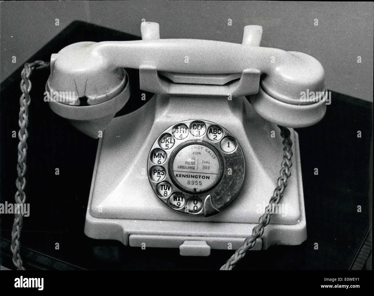 Oct. 10, 1962 - London ''Spy'' Telephone number: Kensington 8955 became the busiest telephone line in London last night. It was - Stock Image