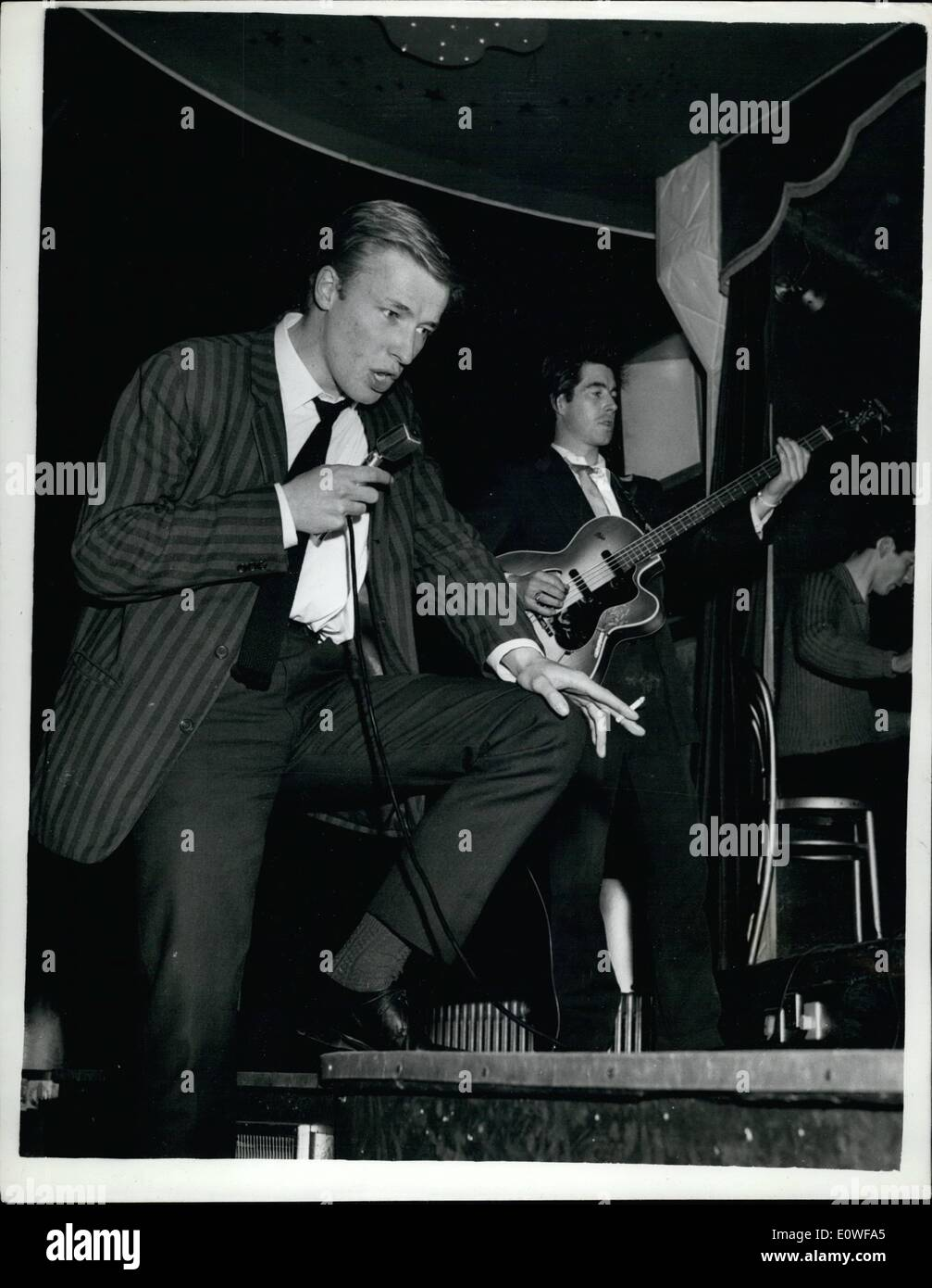 Aug. 08, 1962 - POP SINGER SENT DOWN FROM LONDON UNIVERSITY Pop singer MIKE SARNE, 22, who is in his second year Stock Photo