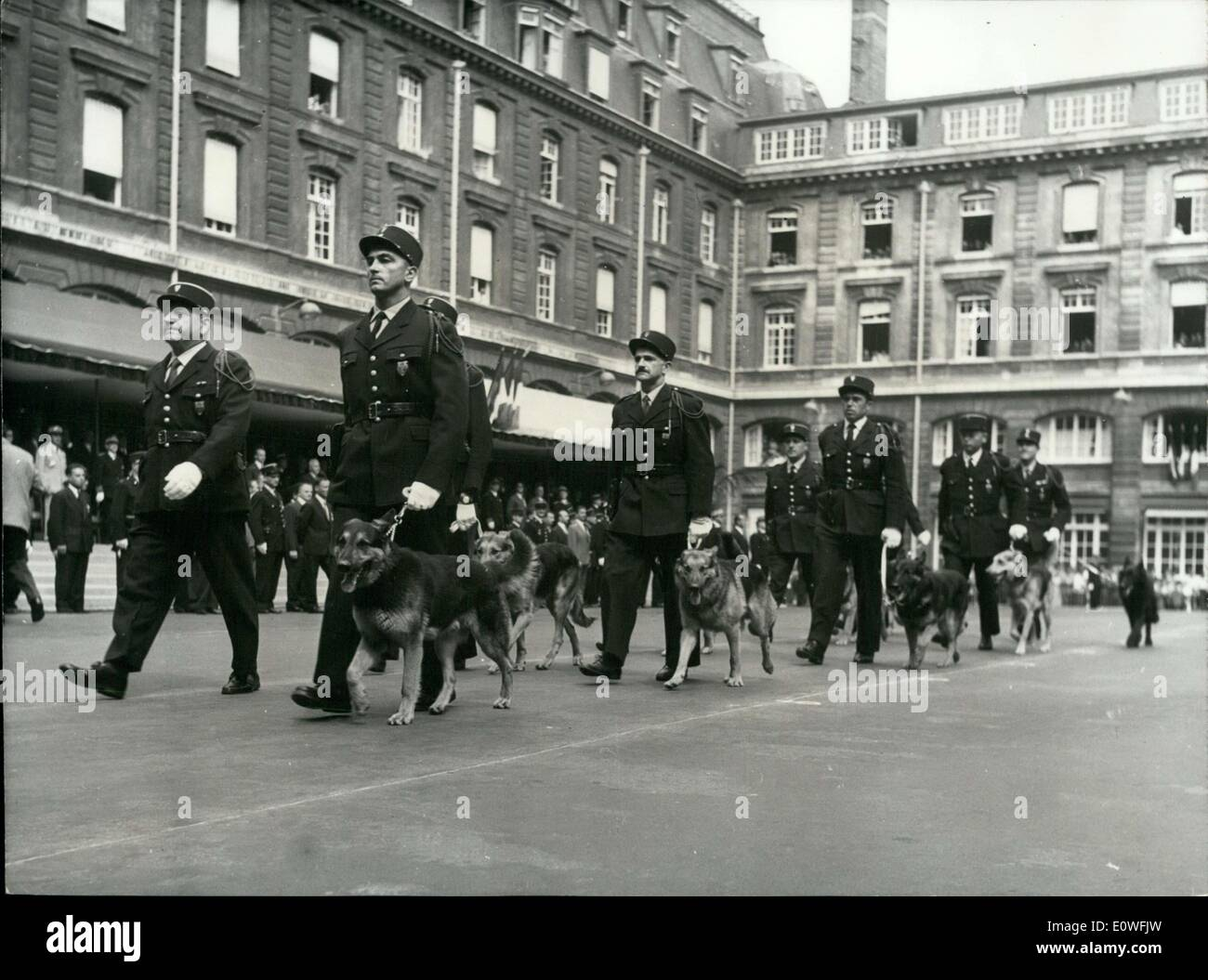 Aug. 20, 1962 - Police March in Parade 8th Anniversary of Liberation of Paris APRESS.c - Stock Image