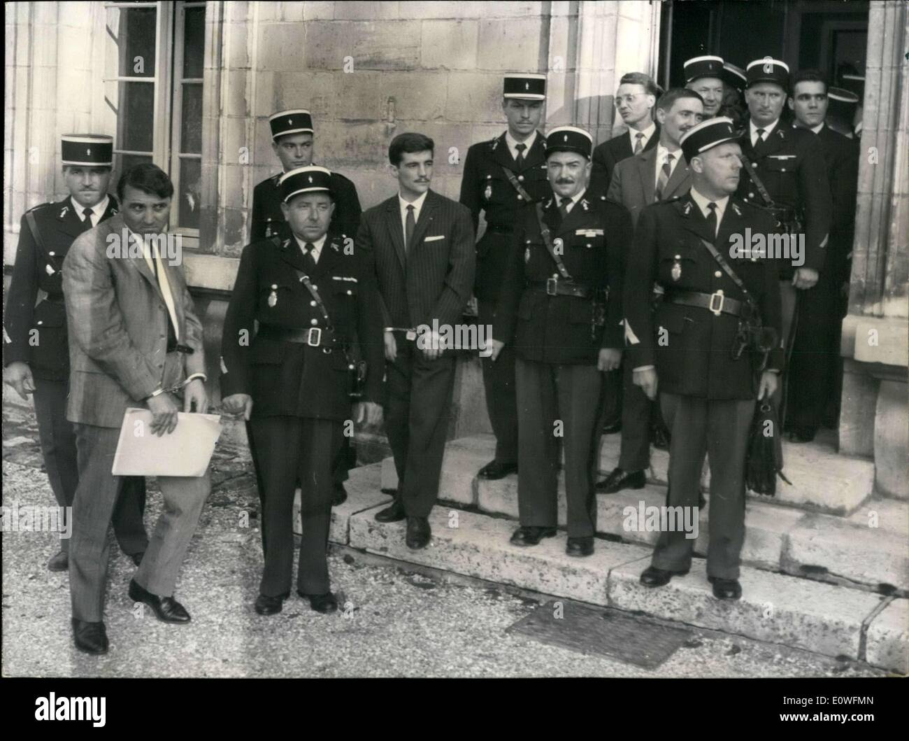 Aug. 29, 1962 - Authors of Plot Against French President Before Jury - Stock Image