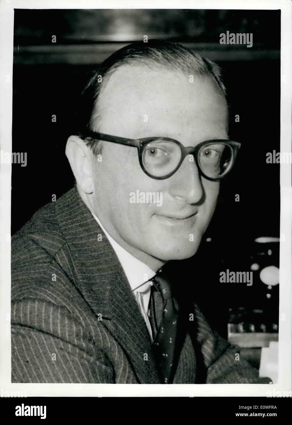 Nov. 11, 1962 - LABOUT ATTACK ON GOVERNMENT - FOLLOWING SPY CASE. Labour's ''Shadow'' Defence Minister - MR. PATRICK GORDON WALKER, said in the House of Commons today that there seemed to have been a compulsion by the Admiralty to make WILLIAM: VASSAL, the spy now serving 18 years imprisonment - personal assistant to high people in that department.. Defense Minister PETER THORNEYCROFT -in his reply, angril, dismissed some of the 'wild charges' in the case. Present in the House were the First Lord of the Admiralty - LORD CARRINGTON and MR - Stock Image