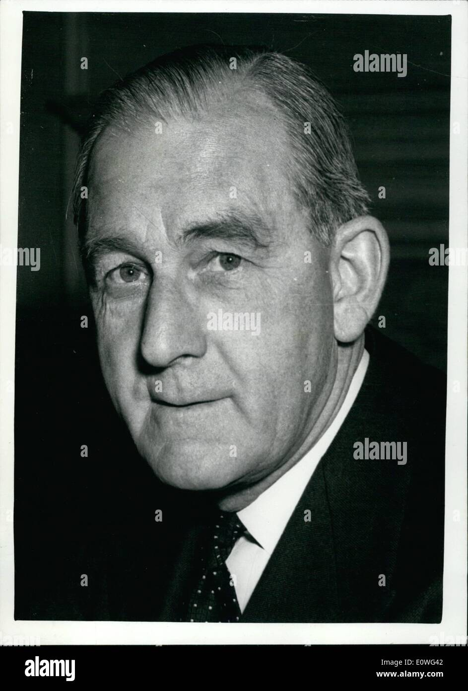 Nov. 11, 1962 - Labour attack on Government - following spy case.: Labour's ''Shadow'' Defence Minister - Mr. Patrick Gordon Walker, said in the House of Commons today that there seemed to have been a compulsion by the Admiralty to make William Vassall, the spy now serving 18 years imprisonment - personal assistant to high people in that department. Defence Minister Peter Thorneycroft - in his reply, angrily dismissed some of the 'wild charges' in the case. Present in the House were the First Lord of the Admiralty Lord Carrington and Mr - Stock Image