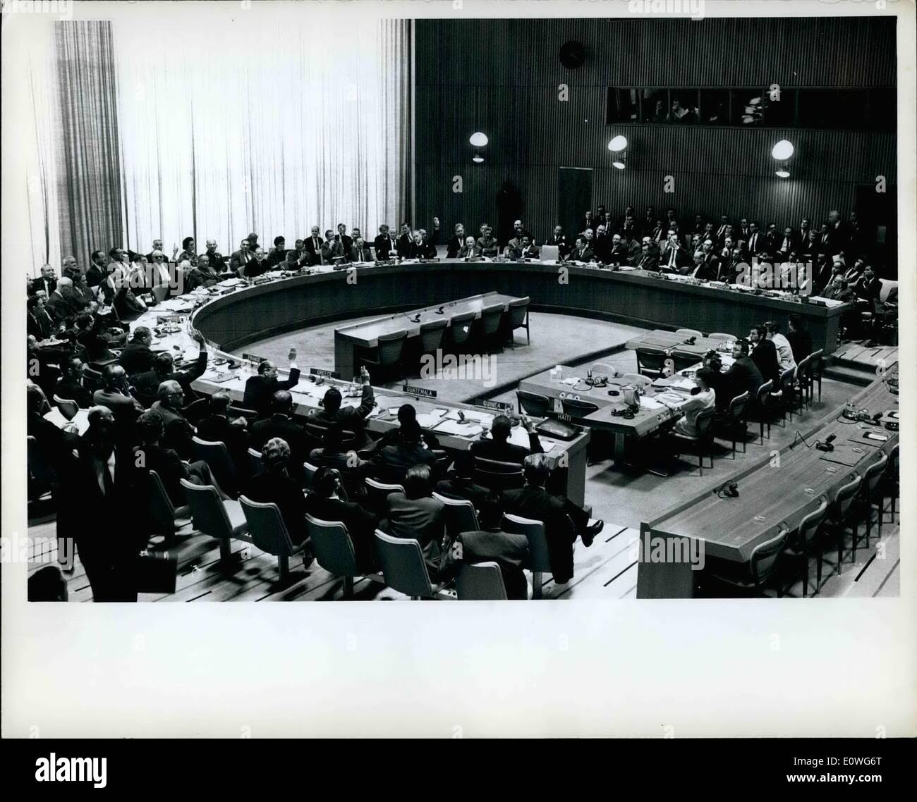 Sep. 09, 1962 - General Committee Recommends Allocation Of 92 Items To Plenary or Committees: The General committee, which yesterday decided to recommend inclusion of 93 items in the agenda for the seventeenth session of the General assembly, this afternoon completed its work by recommending allocation of the items to assembly plenary meetings or to the seven Main committees - Stock Image