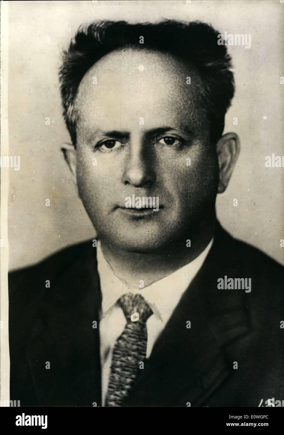 Sep. 19, 1962 - Benjamin Pymchytz of Russian communists - Stock Image