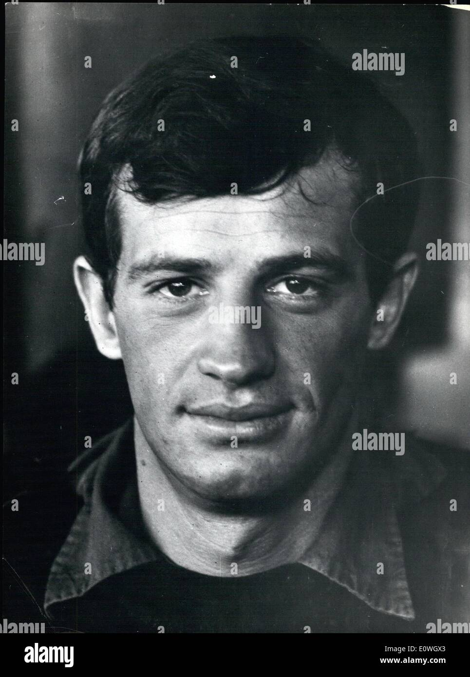 Dec. 12, 1962 - Jean Paul Belmondo the French actor, famous for characteristic personages described in his film, is actually in - Stock Image
