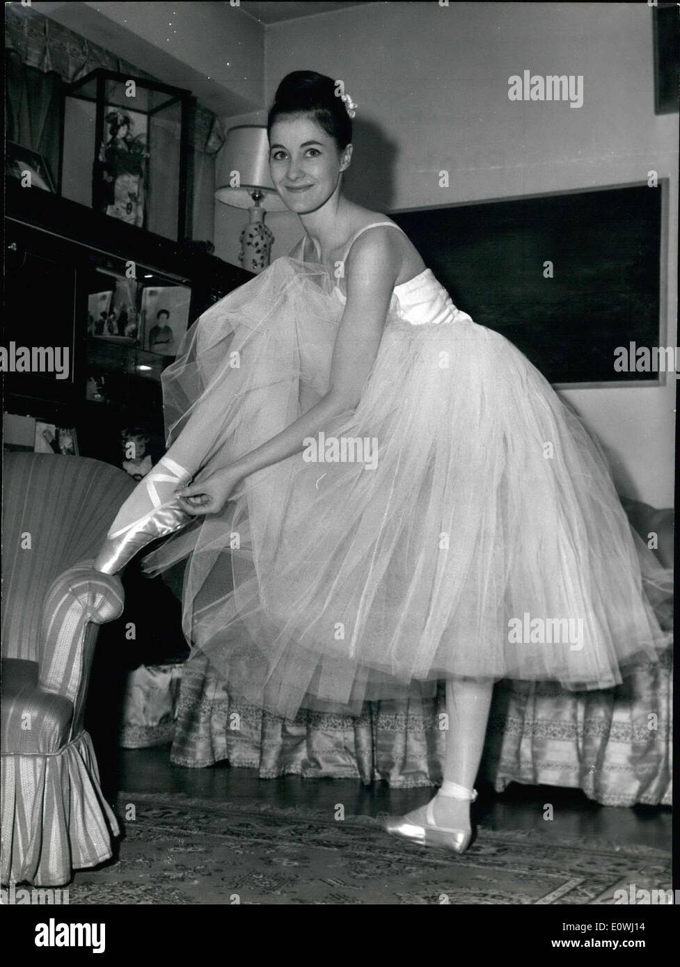 Mar. 02, 1963 - Noella Pontois Paris Opera's Star Dancer - Stock Image