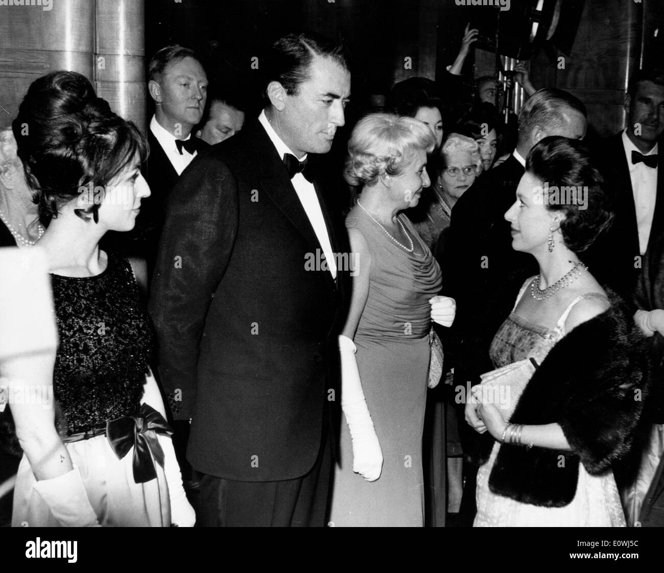 Actor Gregory Peck at the premiere of 'To Kill a Mockingbird' - Stock Image