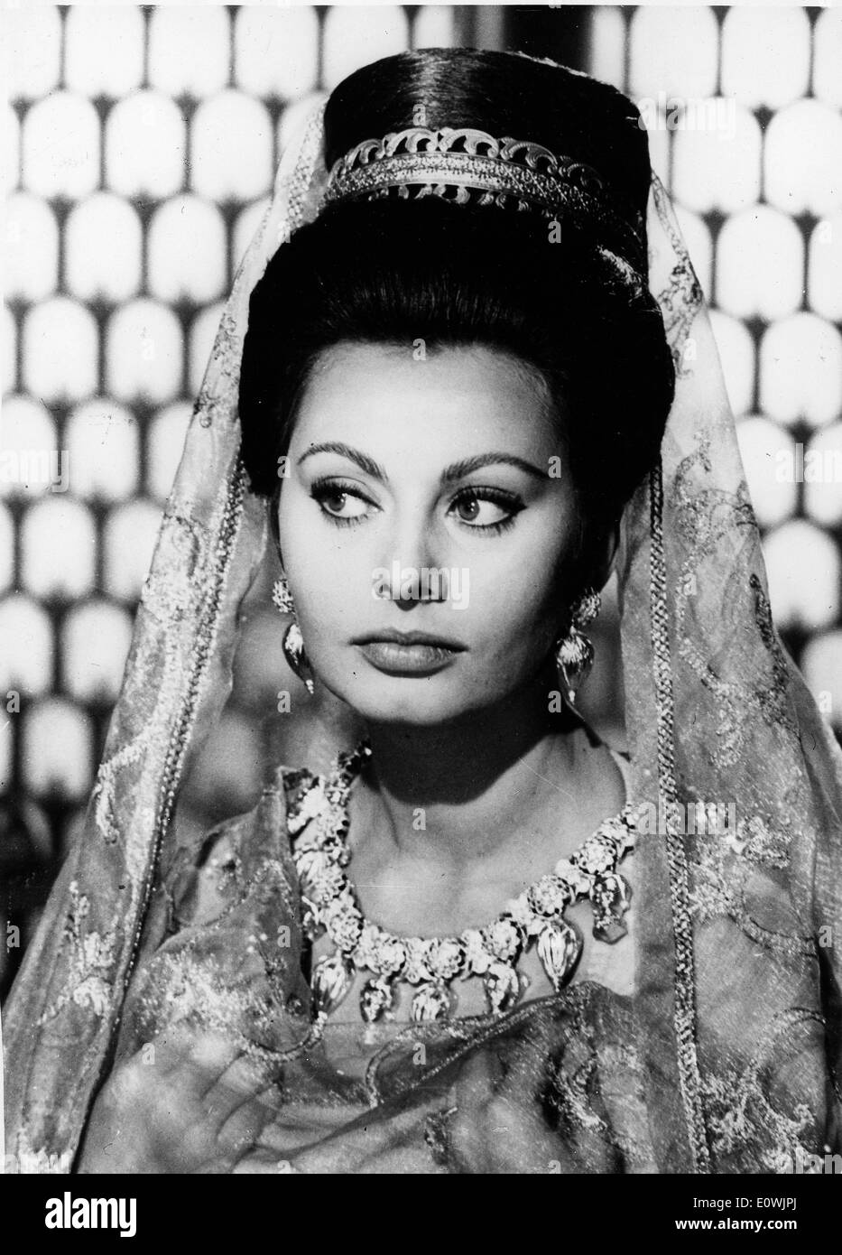 Actress Sophia Loren in the film 'The Fall of the Roman Empire' - Stock Image