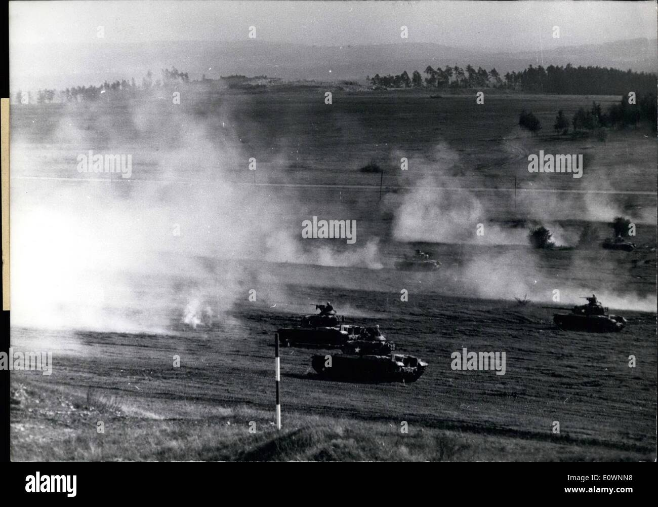 Oct. 10, 1963 - Military Exercise of thee Nations: At Grafenwohr Southern Germany 70 officers of the NATO, who are members of - Stock Image